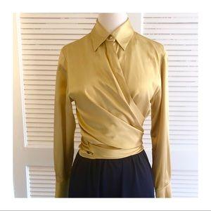 Vintage Dana Buchanan Luxurious Silk Blouse, Sz 6